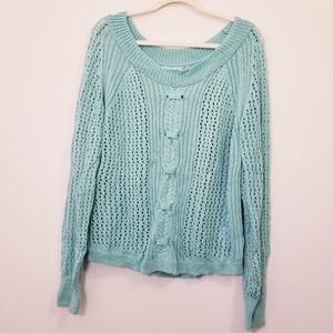 Maurice's XL Blue Knitted Cozy Sweater